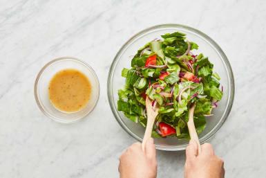 Start Salad & Make Dressing