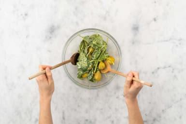 Für den Saag-Aloo-Salat