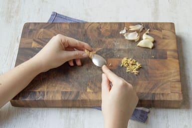 Grate the garlic