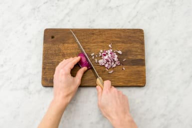 Finely chop the shallot