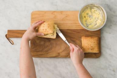 Make the garlic bread