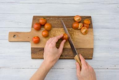 Marinate the tomatoes