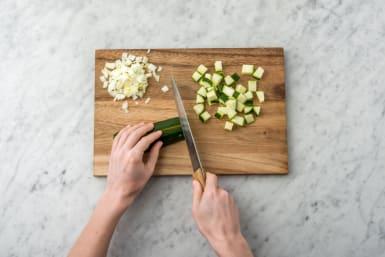 Chop the zucchini