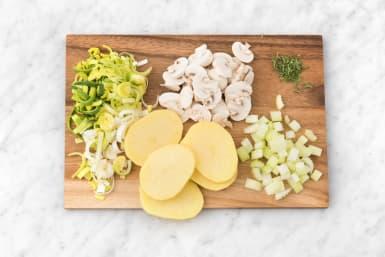 Prepare veggies.
