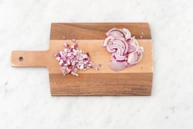 Prepare onion.
