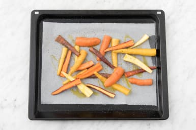 Roast carrots.