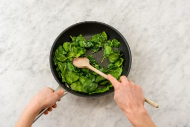 Cook the spinach