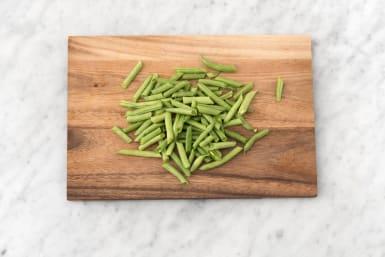 Prep green beans.