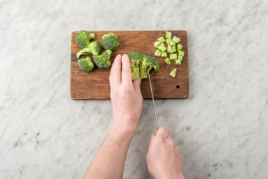 Snijd de broccoli