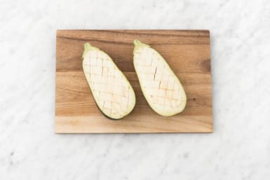 Snijd het vruchtvlees