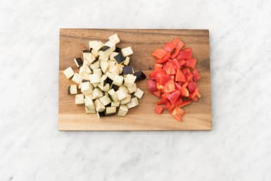 Preheat oven and roast veggies
