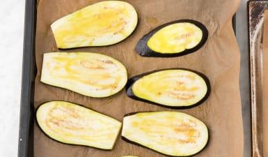 Bake the eggplant