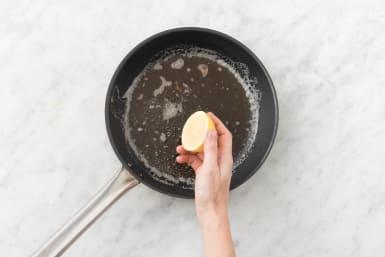 Make lemon butter sauce