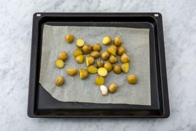 Bake the potato & garlic