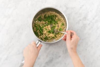 Finish stuffing and quinoa