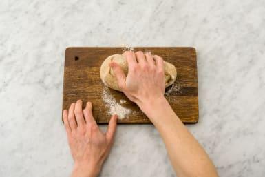 Knead the dough