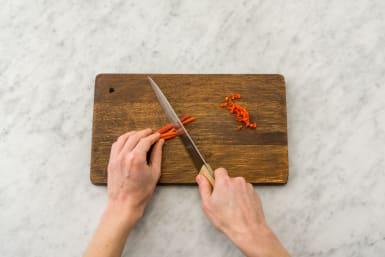 Chop the chilli
