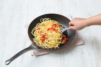 Toss pasta