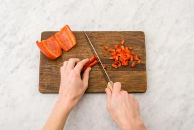 Chop the pepper
