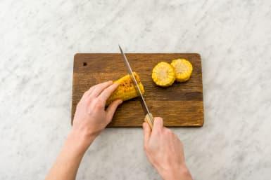 Slice the corn