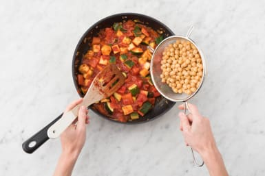 Add the chickpeas