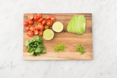 Prep veggies.