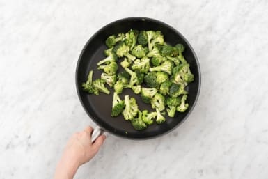 Fry broccoli.