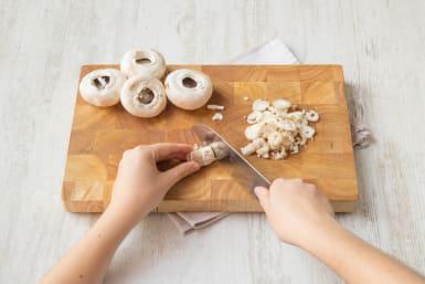 Prepare the mushrooms