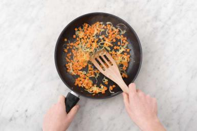 Soften the veggies