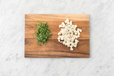 Prep Cheese and Herbs