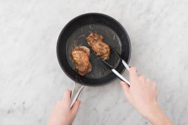 Cook the zaatar chicken