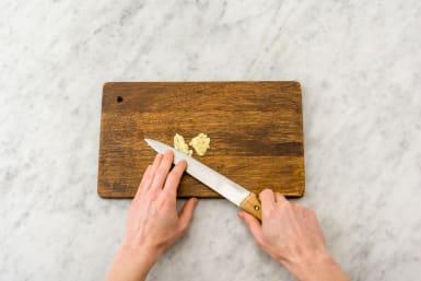 Chop the garlic