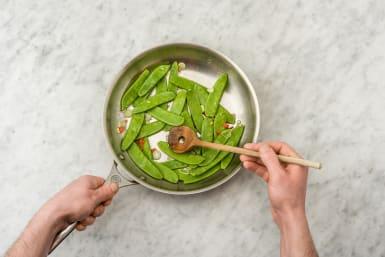 Cook the snow peas