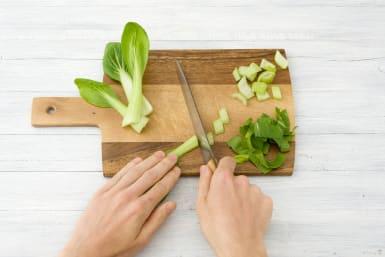 Slice the bok choy