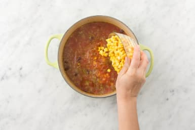 Warm Beans and Corn
