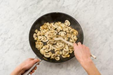 Cook Aromatics and Mushrooms