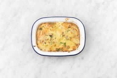 Bake the frittata