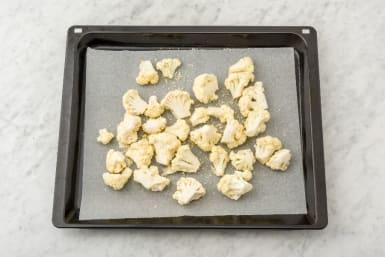 Preheat Oven and Roast Cauliflower
