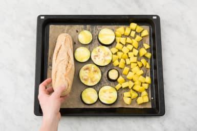 Baguette in Ofen geben