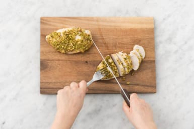 Slice Chicken and Season Quinoa