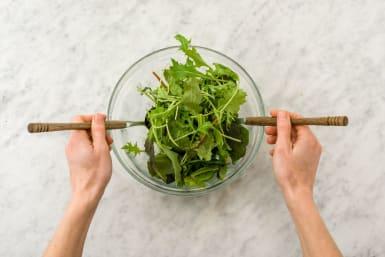 Toast Buns and Make Salad