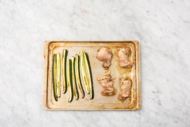 Cook Zucchini and Chicken