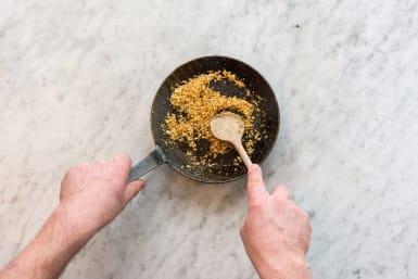 Toast Panko and Boil Pasta