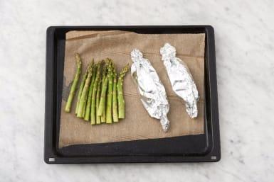 Roast Salmon and Asparagus