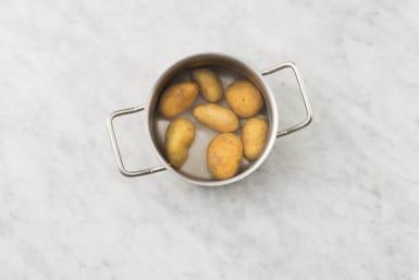 Preheat Broiler and Boil Potatoes