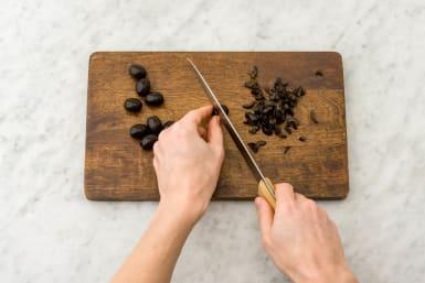 oliven schneiden