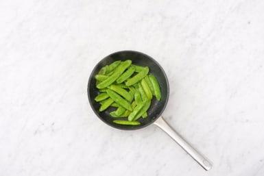 Cook Snow Peas and Glaze Chicken