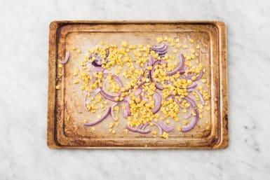 Roast Onion and Corn