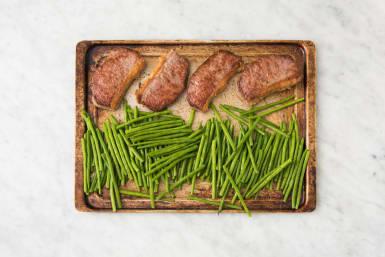 Roast Steak and Green Beans
