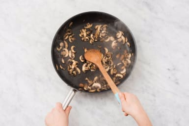 Cook Mushrooms and Onion
